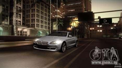 BMW 640i Coupe für GTA San Andreas Rückansicht