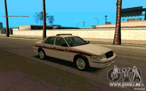 Ford Crown Victoria South Dakota Police pour GTA San Andreas vue de droite