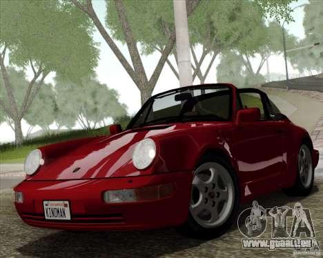 Porsche 911 Carrera 4 Targa (964) 1989 pour GTA San Andreas vue intérieure