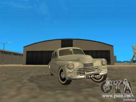 GAZ M20 Pobeda 1949 für GTA San Andreas Seitenansicht