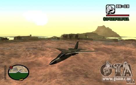 F-111 Aardvark pour GTA San Andreas laissé vue