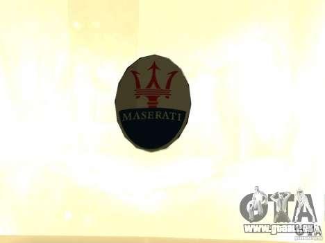 Maserati GranCabrio 2011 pour GTA San Andreas vue de droite