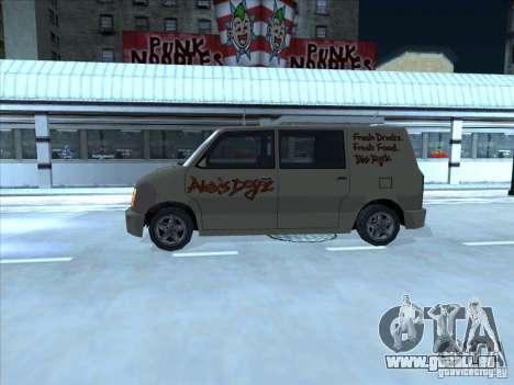 Hot Dog Moonbeam pour GTA San Andreas sur la vue arrière gauche