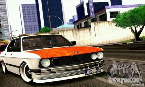 BMW E28 525e RatStyle No1 pour GTA San Andreas sur la vue arrière gauche