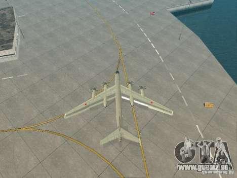 Tu-95 für GTA San Andreas Rückansicht