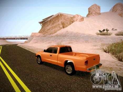 Dodge Ram 1500 Dacota pour GTA San Andreas sur la vue arrière gauche