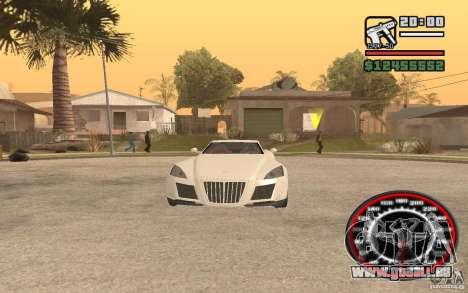 Maybach Exelero pour GTA San Andreas vue de droite
