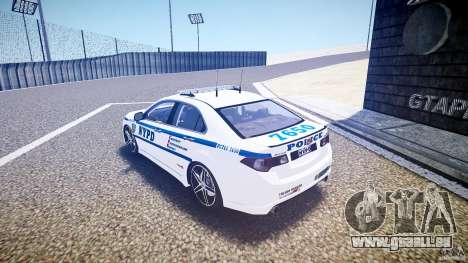 Honda Accord Type R NYPD (City Patrol 7605) ELS pour GTA 4 Vue arrière de la gauche