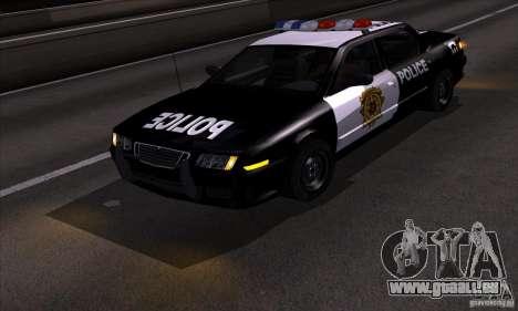 NFS Undercover Police Car für GTA San Andreas Rückansicht