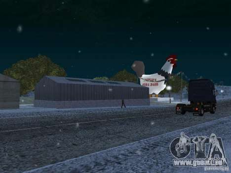 Neige pour GTA San Andreas cinquième écran