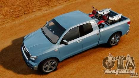 Toyota Tundra 2011 pour GTA 4 est un droit