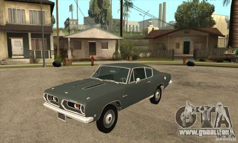 Plymouth Barracuda Formula S 383 1968 pour GTA San Andreas