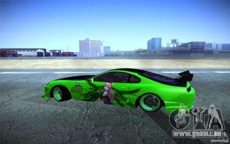 Toyota Supra Tuned pour GTA San Andreas laissé vue