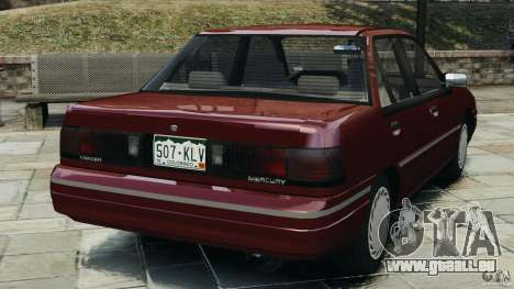 Mercury Tracer 1993 v1.1 pour GTA 4 Vue arrière de la gauche