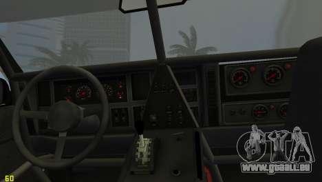 Jeep Cherokee 1984 Sandking pour GTA Vice City vue arrière