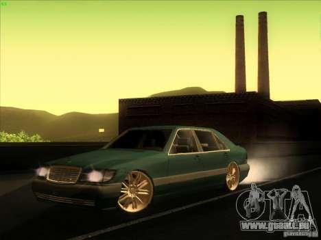 Mercedes-Benz S600 für GTA San Andreas zurück linke Ansicht