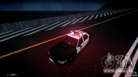 Ford Crown Victoria Raccoon City Police Car pour GTA 4 est une vue de dessous