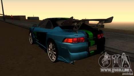 Toyota MR2 Drift pour GTA San Andreas sur la vue arrière gauche