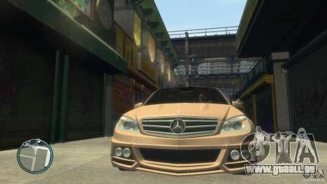 Mercedes-Benz C63 für GTA 4 Seitenansicht