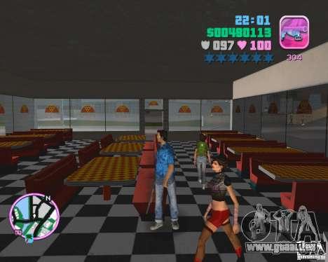 La peau de la version bêta GTA Vice City pour la troisième écran