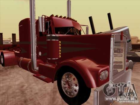 Kenworth W 900 1974 Custom für GTA San Andreas linke Ansicht