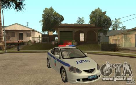 Acura RSX-S DPS ville de Barnaoul pour GTA San Andreas vue arrière