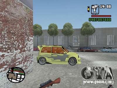 1111 OKA (tuning) pour GTA San Andreas vue de dessus