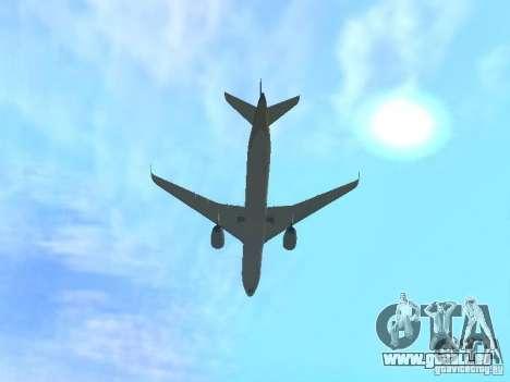 Airbus A350-900 Singapore Airlines pour GTA San Andreas vue arrière