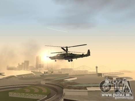 Ka-50 Black Shark für GTA San Andreas Seitenansicht