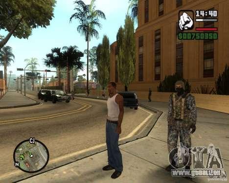 POLICE anti-émeute russe pour GTA San Andreas troisième écran
