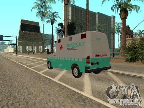 Mercedes Benz Sprinter SAME pour GTA San Andreas laissé vue