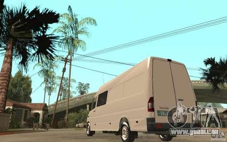 Mercedes-Benz Sprinter 313cdi pour GTA San Andreas sur la vue arrière gauche