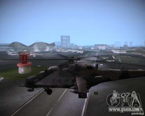 Mi-35 pour GTA Vice City vue arrière