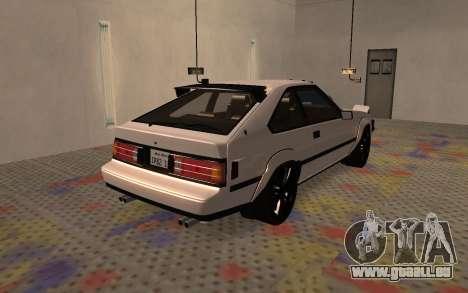 Toyota Celica Supra 2JZ-GTE 1984 für GTA San Andreas zurück linke Ansicht