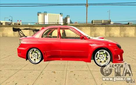 Subaru Impreza STI für GTA San Andreas Innenansicht
