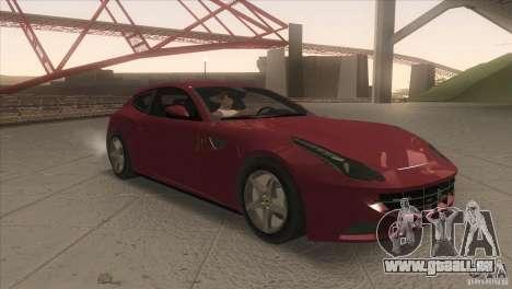 Ferrari FF 2011 V1.0 pour GTA San Andreas vue arrière