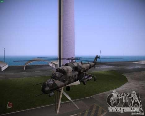 Mi-35 pour une vue GTA Vice City de la gauche