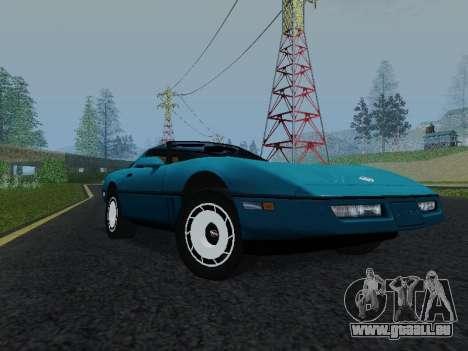 Chevrolet Corvette C4 1984 pour GTA San Andreas laissé vue
