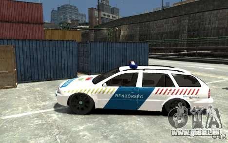 Skoda Octavia Kombi 2005 Hungarian Police pour GTA 4 est une gauche