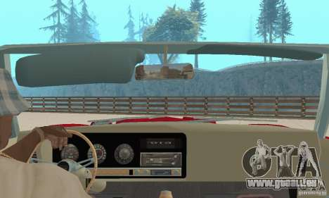 Pontiac GTO The Judge Cabriolet pour GTA San Andreas vue intérieure