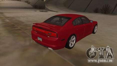 Dodge Charger RT 2011 V1.0 für GTA San Andreas Rückansicht