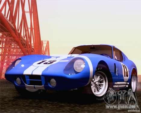 Shelby Cobra Daytona Coupe 1965 für GTA San Andreas zurück linke Ansicht