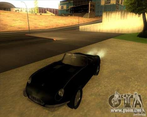 Jaguar E-type 1963 für GTA San Andreas zurück linke Ansicht