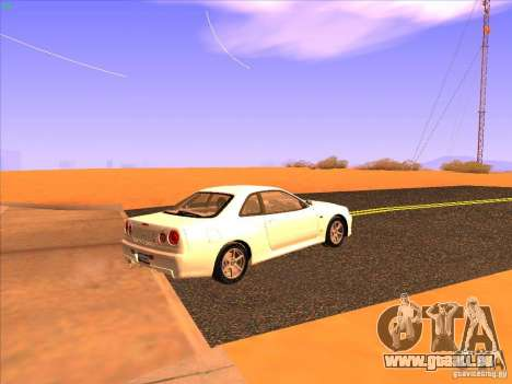 Nissan Skyline R34 Tunable pour GTA San Andreas vue de droite