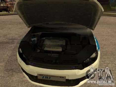 Volkswagen Scirocco German Police pour GTA San Andreas vue de droite