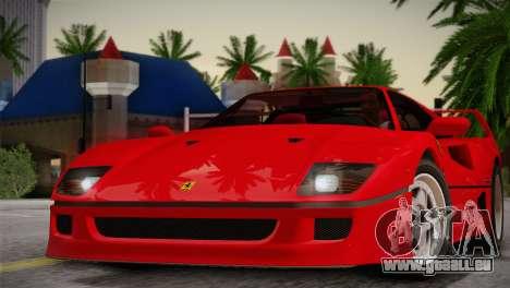 Ferrari F40 1987 pour GTA San Andreas vue de côté
