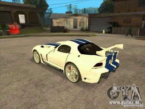 Dodge Viper from MW pour GTA San Andreas sur la vue arrière gauche