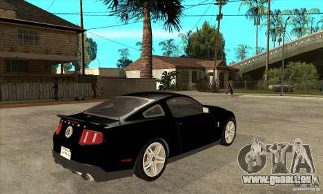 Ford Shelby GT 500 2010 pour GTA San Andreas vue de droite