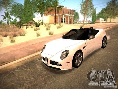 Alfa Romeo 8C Spider 2012 für GTA San Andreas Unteransicht