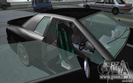 Elegy MS R32 pour GTA San Andreas sur la vue arrière gauche